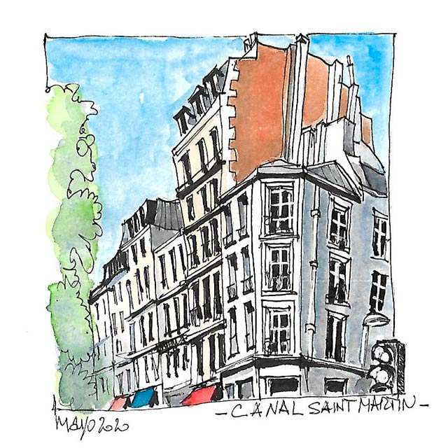Stage croquis de voyage à Paris, août 2020