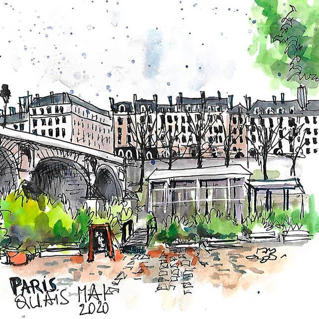 Urban sketching paris