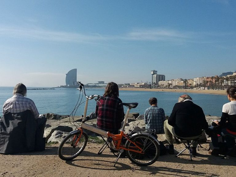 croquis urbain à barcelone