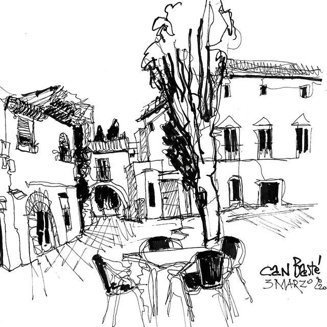 Sketching course in Can Baste