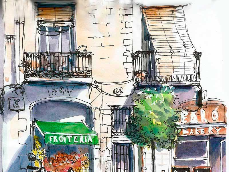 Cours Urban sketching barcelone