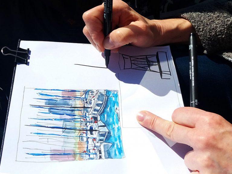 Sketching de viaje barcelona