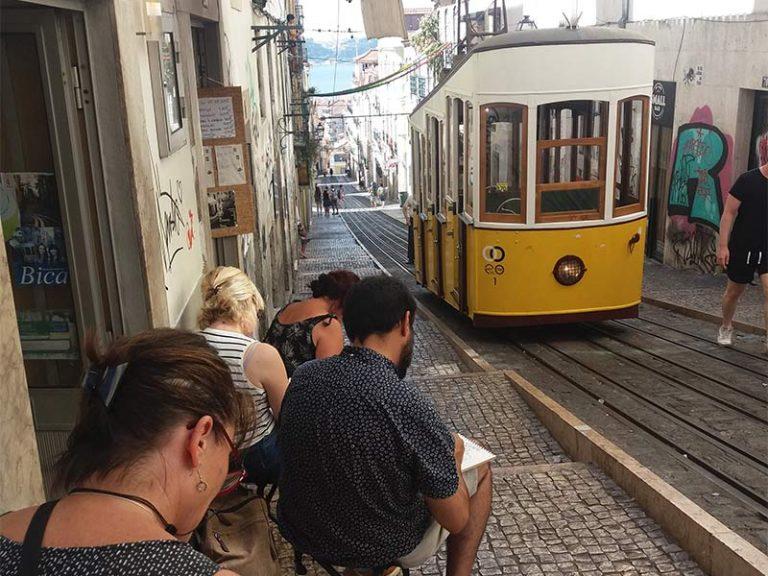 Lisbonne stage croquis de voyage