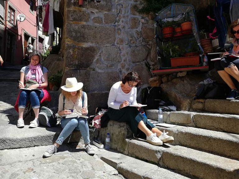 Taller de sketching en Oporto